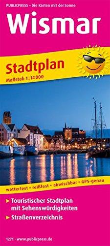Wismar: Touristischer Stadtplan mit Sehenswürdigkeiten und Straßenverzeichnis. 1:14000 (Stadtplan / SP)