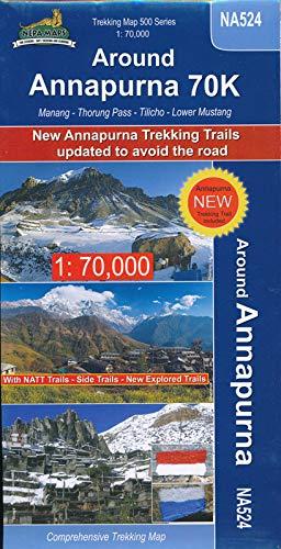 Trekking Map Around Annapurna 70K 1:70.000
