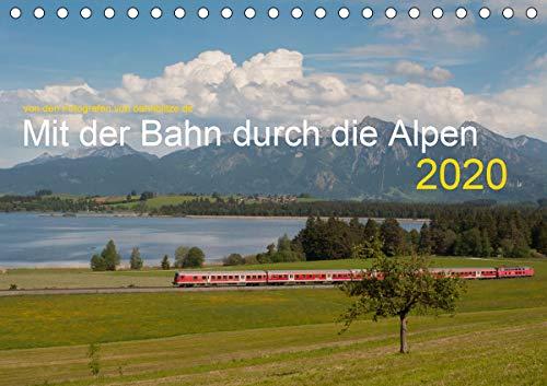 Mit der Bahn durch die Alpen (Tischkalender 2020 DIN A5 quer): Eisenbahn in den Alpenländern Schweiz, Österreich, Deutschland (Monatskalender, 14 Seiten ) (CALVENDO Mobilitaet)
