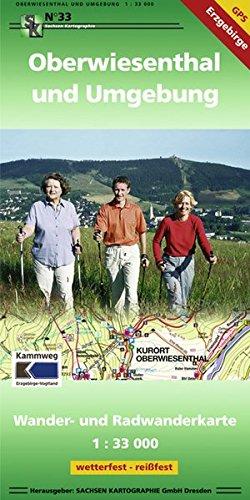 Oberwiesenthal und Umgebung: Wander- und Radwanderkarte 1:33 000 GPS-fähig wetterfest, reißfest