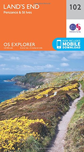 Land's End, Penzance and St Ives (OS Explorer Map, Band 102)