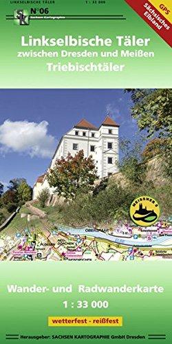 Linkselbische Täler zwischen Dresden und Meißen: Wander- und Radwanderkarte 1:33 000 GPS-fähig wetterfest-reißfest