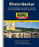 ADAC StadtAtlas Rhein-Neckar mit Bruchsal, Heidelberg, Kaiserslautern, Karlsruhe: Landau, Ludwigshafen, Mannheim, Speyer, Worms 1:20 000 (ADAC Stadtatlanten 1:20.000)