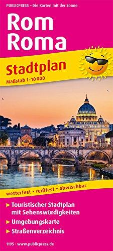 Rom, Roma: Touristischer Stadtplan mit Sehenswürdigkeiten und Straßenverzeichnis. 1:10.000 (Stadtplan / SP)