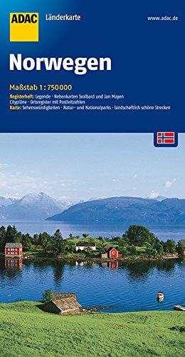 ADAC Länderkarte Norwegen 1:750.000