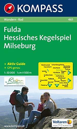KOMPASS Wanderkarte Fulda - Hessisches Kegelspiel - Milseburg: Wanderkarte mit Kurzführer und Radwegen. GPS-genau. 1:50000: Wandelkaart 1:50 000 (KOMPASS-Wanderkarten, Band 461)