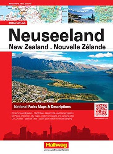 Neuseeland Strassenatlas: Citypläne, Reisemobil- und Campingplätze (Hallwag Atlanten)