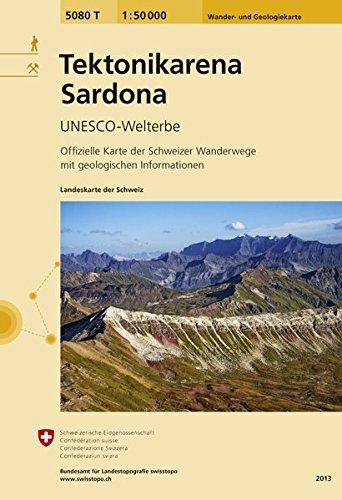 5080T Tektonikarena Sardona: UNESCO-Welterbe (Wanderkarten 1:50 000 Zusammensetzung)