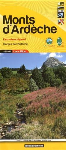 Libris Wanderkarte 11. Monts d'Ardèche 1 : 60 000: Gorges de l'Ardèche. Parc naturel régional. GPS compatible