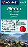 KOMPASS Wanderkarte Meran und Umgebung /Merano e dintorni: 5in1 Wanderkarte 1:50000 mit Panorama, Aktiv Guide und Detailkarten inklusive Karte zur ... Skitouren. (KOMPASS-Wanderkarten, Band 53)