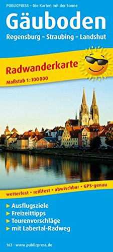 Gäuboden, Regensburg - Straubing - Landshut: Radwanderkarte mit Ausflugszielen, Einkehr- & Freizeittipps, wetterfest, reissfest, abwischbar, GPS-genau. 1:100000 (Radkarte / RK)