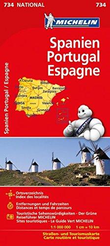 Michelin Spanien / Portugal: Straßen- und Tourismuskarte (MICHELIN Nationalkarten)