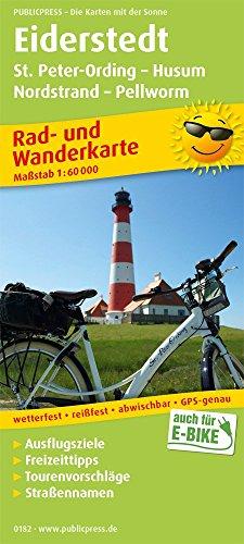 Eiderstedt, St. Peter-Ording - Husum, Nordstrand - Pellworm: Rad- und Wanderkarte mit Ausflugszielen und Freizeiteinrichtungen, wetterfest, reissfest, ... 1:60 000 (Rad- und Wanderkarte / RuWK)