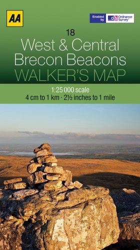 Walker's Map 18 Brecon Beacons 1 : 25 000 (Aa Walkers Map)