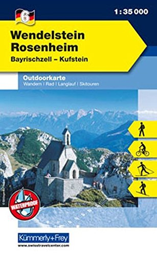 Outdoorkarte 06 Wendelstein - Rosenheim 1 : 35.000: Wandern, Rad, Langlauf, Skitouren. Bayrischzell, Kufstein (Kümmerly+Frey Outdoorkarten Deutschland)