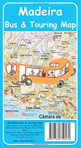Madeira Bus & Touring Map 7th edition