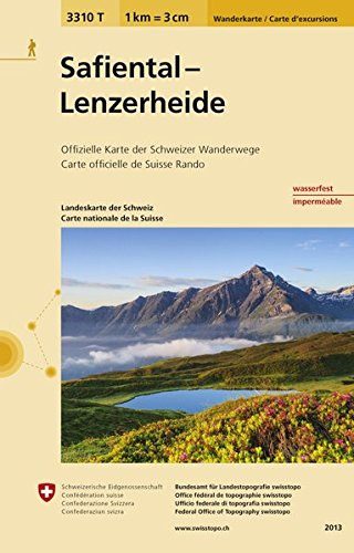 3310T Safiental - Lenzerheide Wanderkarte: Ilanz - Thusis - Domat/Ems - Chur - Lenzerheide (Wanderkarten 1:33 333)