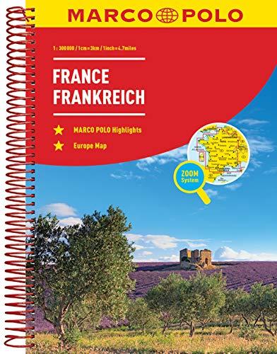 MARCO POLO ReiseAtlas Frankreich 1:300 000: Europa 1:4 500 000 (MARCO POLO Reiseatlanten)