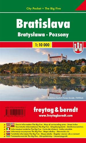 Bratislava, Stadtplan 1:10.000, City Pocket + The Big Five: Stadskaart 1:10 000 (freytag & berndt Stadtpläne)