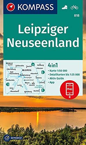 KOMPASS Wanderkarte Leipziger Neuseenland: 4in1 Wanderkarte 1:50000 mit Aktiv Guide und Detailkarten inklusive Karte zur offline Verwendung in der ... 1:50 000 (KOMPASS-Wanderkarten, Band 818)