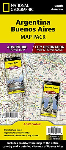 Argentina, Buenos Aires, Map Pack Bundle (National Geographic Adventure Map)