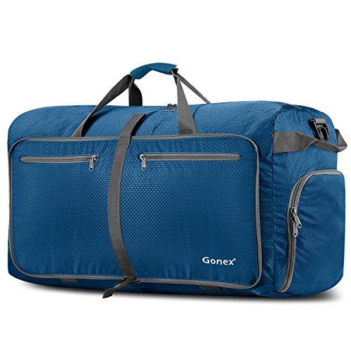 Gonex Leichter Faltbare Reise-Gepäck 100L Duffel Taschen Übernachtung Taschen/Sporttasche für Reisen Sport Gym Urlaub