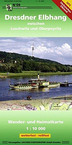 Dresdner Elbhang: Wander- und Heimatkarte 1: 10 000 GPS-fähig wetterfest, reißfest