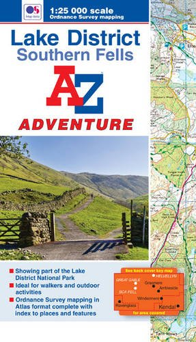Wanderatlas Lake District (Southern Fells) (A-Z Adventure Atlas)