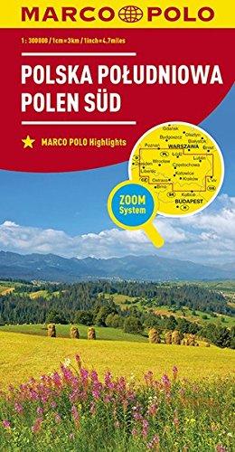 MARCO POLO Karte Polen Süd 1:300 000: Wegenkaart 1:300 000 (MARCO POLO Karten 1:300.000)