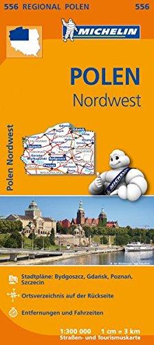Michelin Polen Nordwest: Straßen- und Tourismuskarte 1:300.000 (MICHELIN Regionalkarten)
