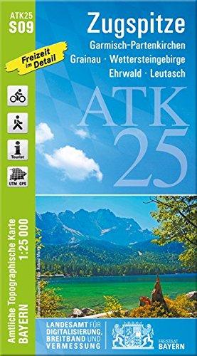 ATK25-S09 Zugspitze (Amtliche Topographische Karte 1:25000): Garmisch-Partenkirchen, Grainau, Wettersteingebirge, Ehrwald, Leutasch (ATK25 Amtliche Topographische Karte 1:25000 Bayern)