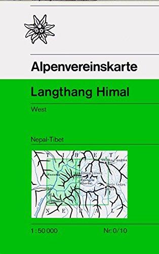 Langthang Himal West: Nepal - Tibet, Topographische Karte 1:50.000 (Alpenvereinskarten)