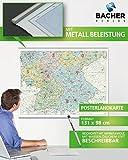 BACHER ORGA-Karte Süddeutschland Maßstab 1:500 000, Papierkarte gerollt, folienbeschichtet und beleistet: Die ORGA-Karte beinhaltet die ... auf der Linie Krefeld - Kassel - Leipzig