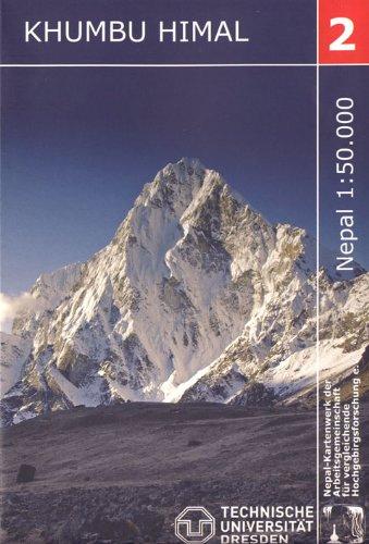 Khumbu Himal Trekking-Karte 1:50 000: Blatt 2 Nepal-Kartenwerk der Arbeitsgemienschaft für vergleichende Hochgebirgsforschung e.V.