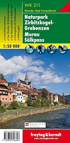 WK 211 Naturpark Zirbitzkogel-Grebenzen - Murau - Sölkpass, Wanderkarte 1:50.000
