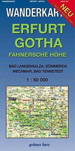Wanderkarte Erfurt, Gotha: Mit Bad Langensalza, Gebesee, Waltershausen, Neudietendorf. Maßstab 1:50.000. (Wanderkarten 1:50.000)