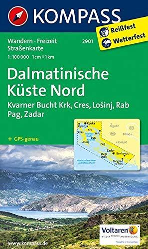 KOMPASS Wanderkarte Dalmatinische Küste Nord: Wanderkarte. GPS-genau. 1:100000: Wandelkaart 1:100 000 (KOMPASS-Wanderkarten, Band 2901)