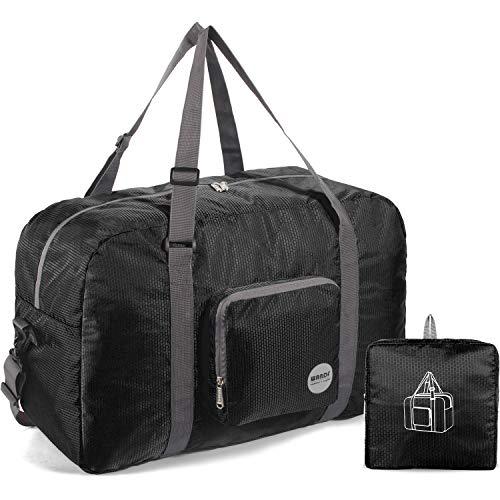 Faltbare Reisetasche 50L, Superleichte Reisetasche für Gepäck Sport Fitness Wasserdichtes Nylon von WANDF