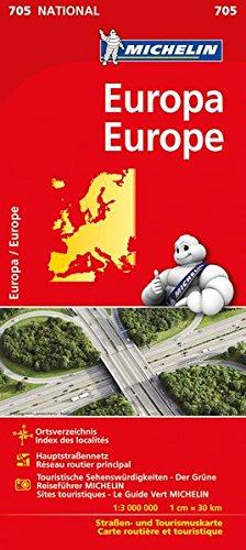 Michelin Europa: Straßen- und Tourismuskarte 1:3.000.000 (MICHELIN Nationalkarten)