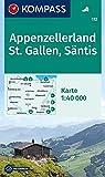 KOMPASS Wanderkarte Appenzellerland, St. Gallen, Säntis: Wanderkarte. GPS-genau. 1:40000 (KOMPASS-Wanderkarten, Band 112)