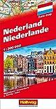 Hallwag Straßenkarten, Niederlande: Straßenkarte mit Index und Distoguide