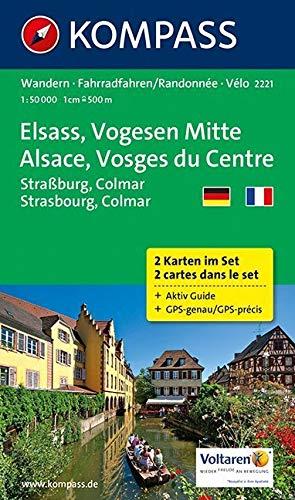 Elsass - Vogesen Mitte - Alsace - Vosges du Centre: Wanderkarten-Set mit Aktiv Guide. GPS-genau. 1:50000: 2-delige Wandelkaart 1:50 000 (KOMPASS-Wanderkarten, Band 2221)