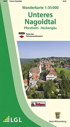 Unteres Nagoldtal: Pforzheim Heckengäu (Wanderkarten 1:35 000)