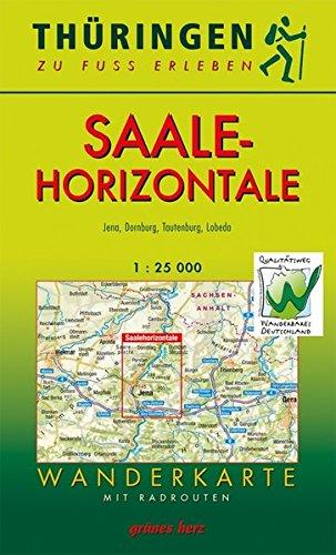 Wanderkarte Saalehorizontale: Jena, Dornburg, Tautenburg, LobedaMaßstab 1:25.000 (Thüringen zu Fuß erleben / Wanderkarten, 1:30.000)