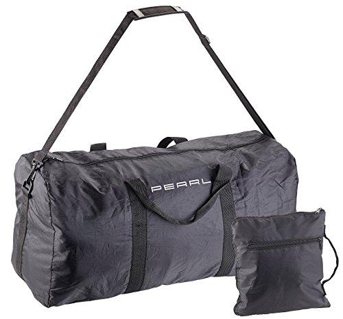 PEARL Faltbare Reisetasche: Leichte Falt-Reisetasche aus reißfestem Polyester, 58 Liter, Tragegurt (Leichte Reisetaschen Nylon)