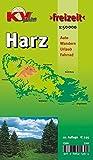 Harz: 1:50.000, Der 'ganze' Harz von Goslar bis Sangerhausen und Osterode bis Quedlinburg, Freizeitkarte incl. Rad- und Wanderwegen (KVplan Harz-Region)