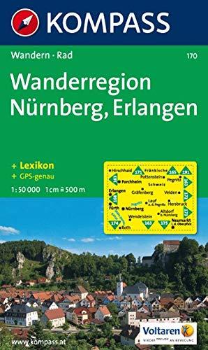 Wanderregion Nürnberg, Erlangen: Wander- und Radkarte. GPS-genau. 1:50.000