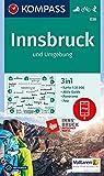 KOMPASS Wanderkarte Innsbruck und Umgebung: 3in1 Wanderkarte 1:35000 mit Aktiv Guide und Panorama inklusive Karte zur offline Verwendung in der ... Skitouren. (KOMPASS-Wanderkarten, Band 36)