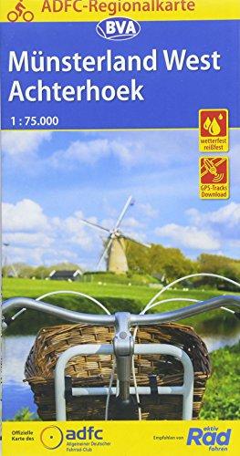 ADFC-Regionalkarte Münsterland West / Flusslandschaft Achterhoek, 1:75.000, reiß- und wetterfest, GPS-Tracks Download: Von Nijmegen und Arnhem bis ... und Slinge-Route (ADFC-Regionalkarte 1:75000)