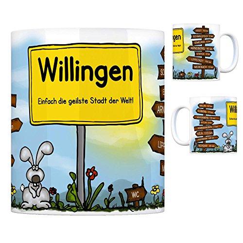 Willingen (Upland) - Einfach die geilste Stadt der Welt Kaffeebecher Tasse Kaffeetasse Becher mug Teetasse Büro Stadt-Tasse Städte-Kaffeetasse Lokalpatriotismus Spruch kw Köln Soest Brilon Olsberg